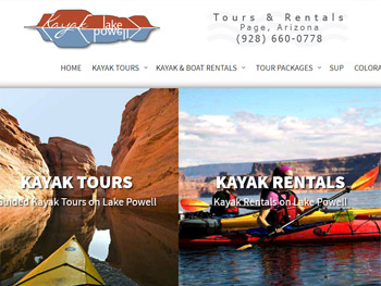 Website Portfolio<br />Kayak Powell